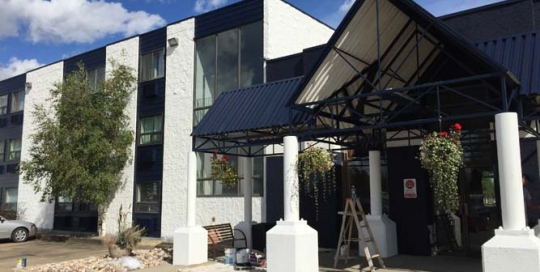 large building painting edmonton